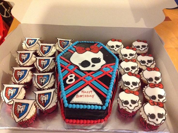 Monster Hyde cake & cupcakes for  Emma