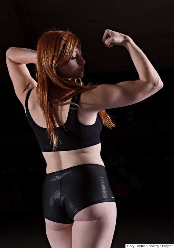 Gorgeous Roller Derby Photos Redefine Beauty And Strength. Ginger Snapped of South Bend Roller Girls.