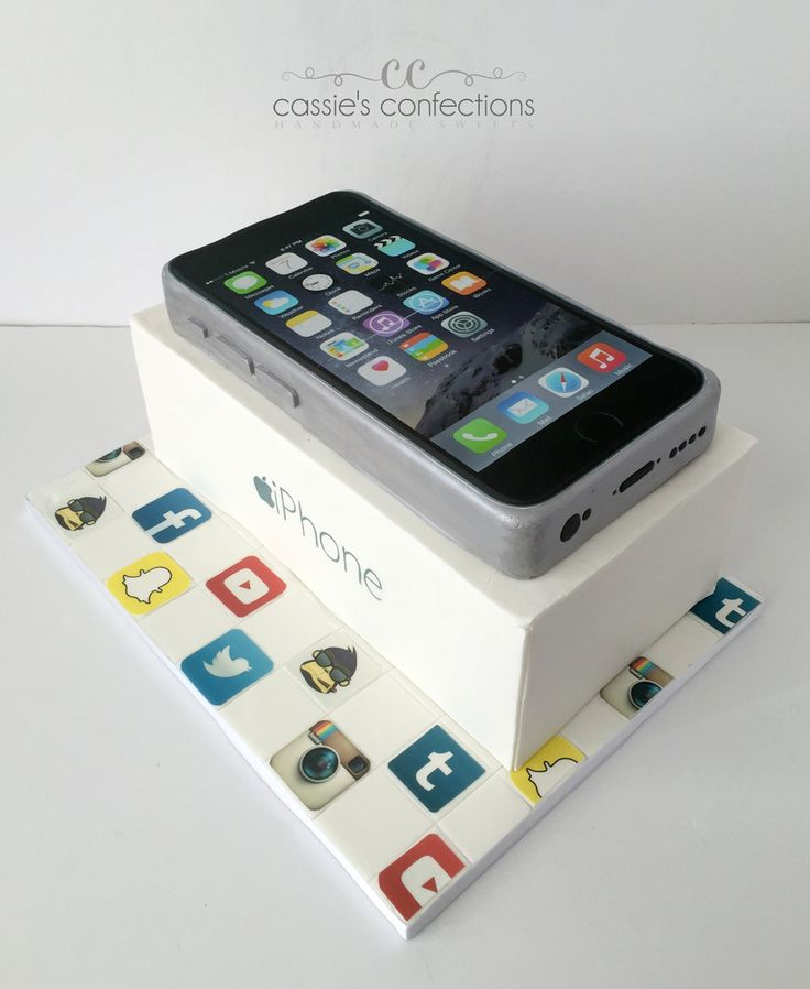 iPhone cake @ Cassie's Confections