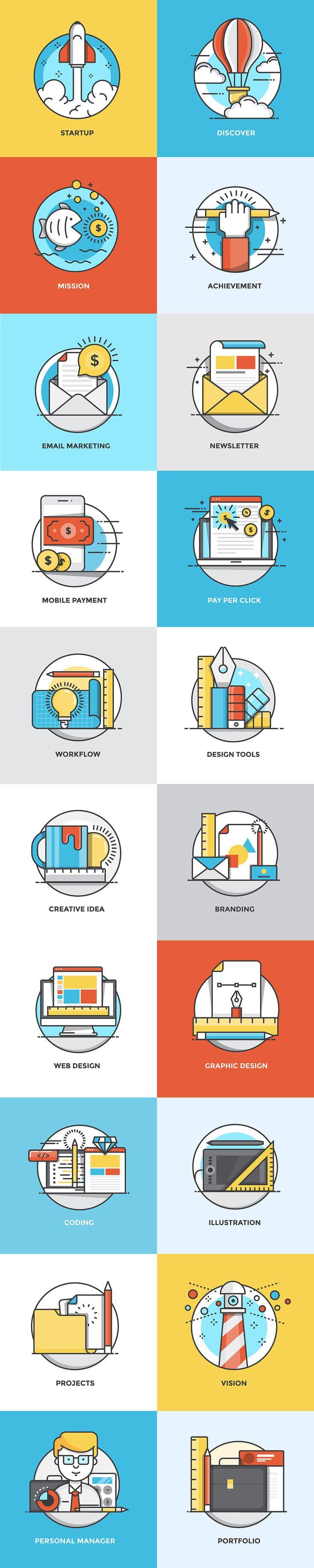 best flat illustration images on pinterest graph design