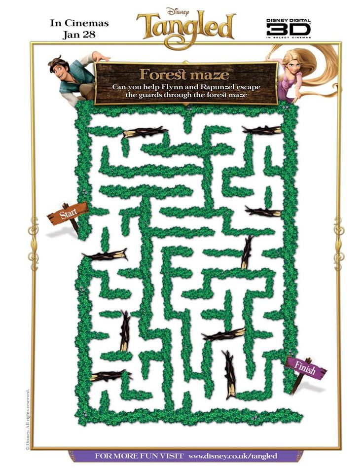 TANGLED Forest Maze Game