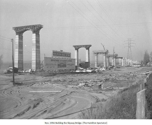 Building the Skyway Bridge, Hamilton, Ontario, Canada