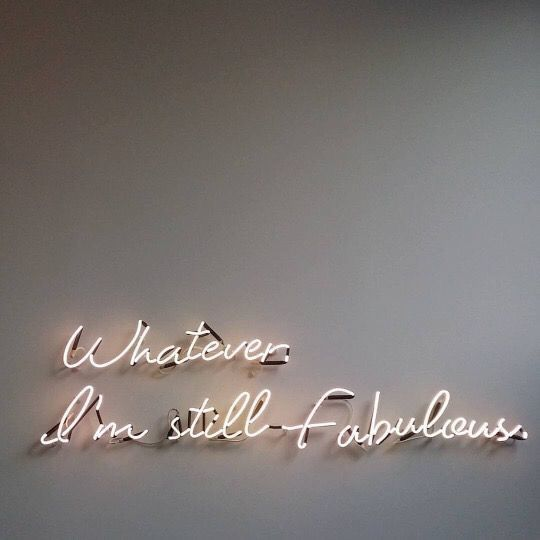 Stay fab. Regardless of what anyone thinks i may seem sad but nah you have no clue dont.. Haha