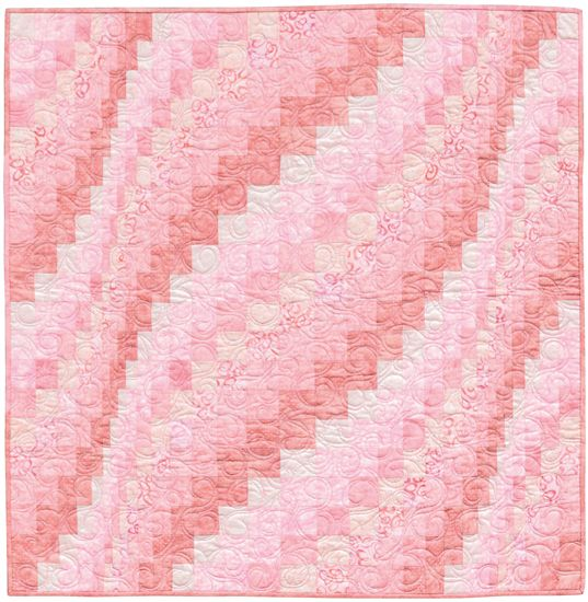 """Bargello for Baby Girl"" from the book More Twist-and-Turn Bargello Quilts by Eileen Wright"