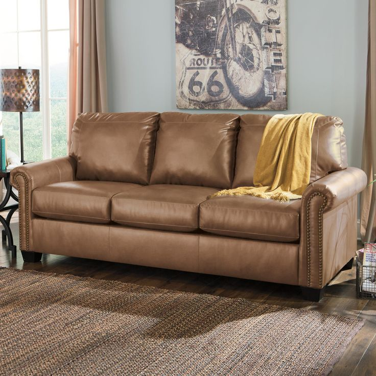 Recliner Sofa The Baltwood Espresso Queen Sofa Sleeper from Ashley Furniture HomeStore AFHS