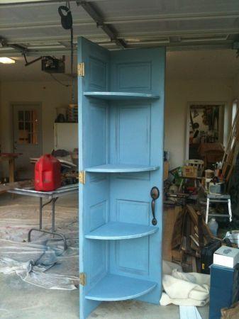 Alte Tür Eckregal Laden Display