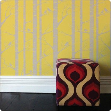 Lara Cameron Removable Wallpaper Birch from The Wall Sticker Company.