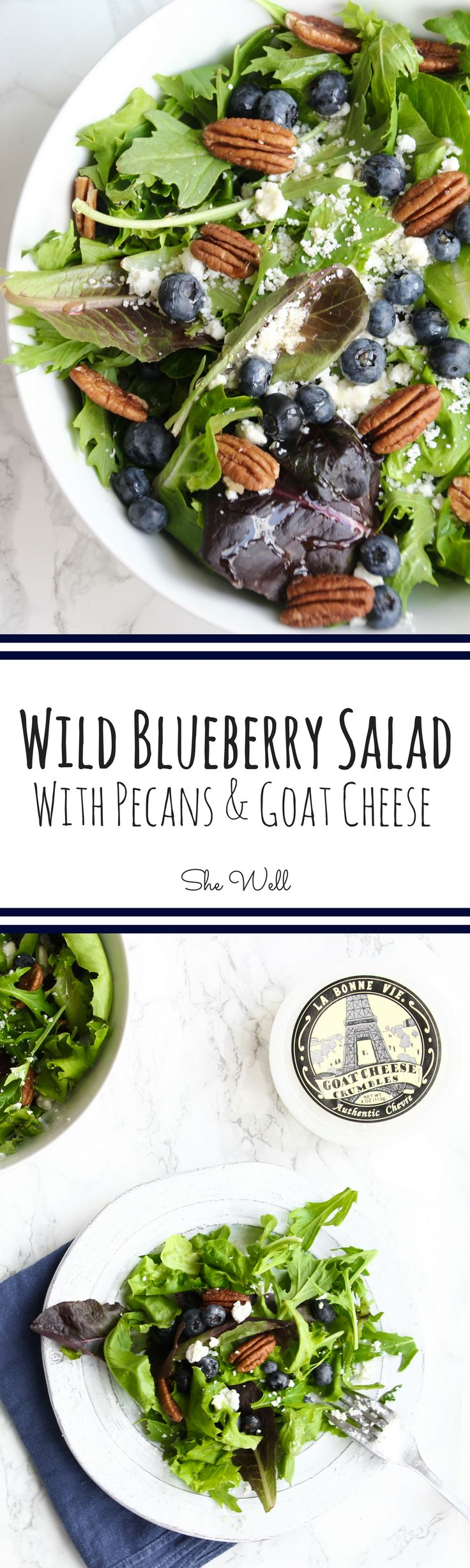 Wild Blueberry Salad // Perfect for vegetarians and easy to make vegan and paleo eaters. Click to read now or pin for later!
