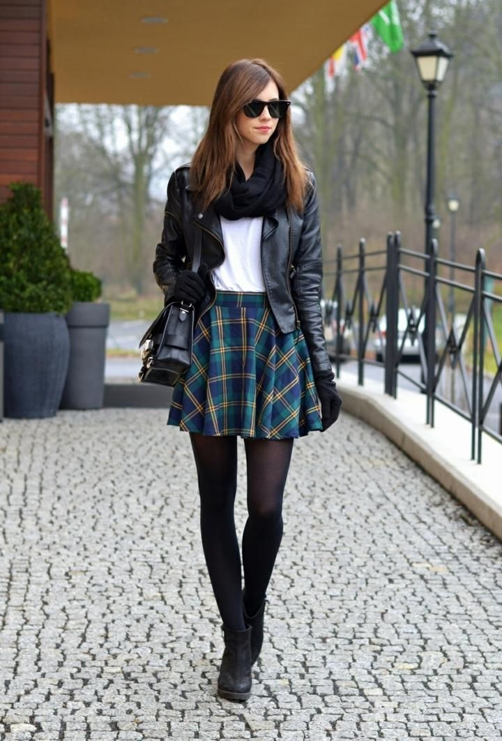 Ladies stylish plaid clothing, perfect for fall