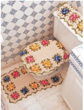 Receitas Círculo - Conjunto para banheiro com flores