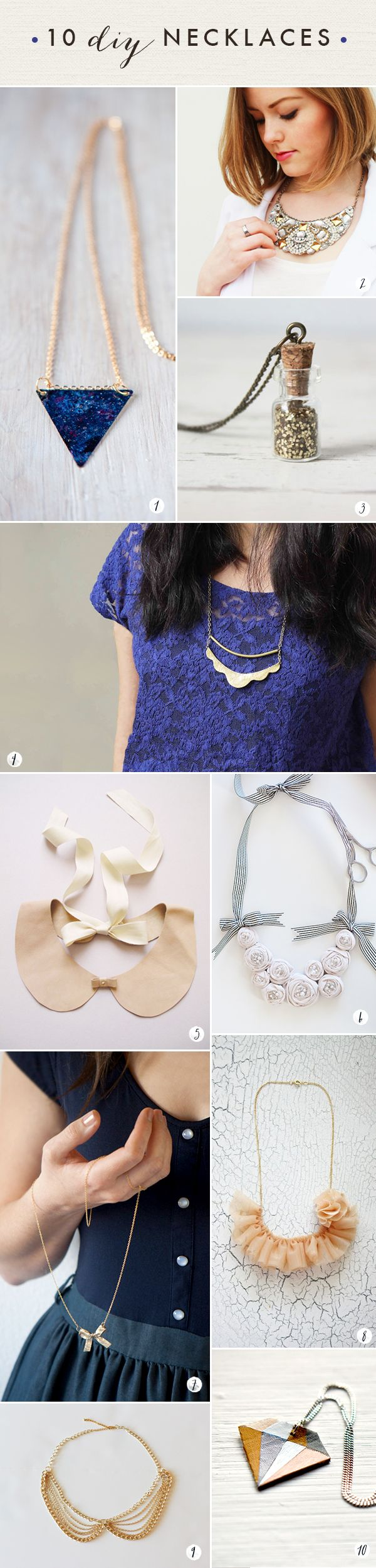This site has some great jewelry DIYs - Oh the lovely things: 60 DIY Accessories- Last Minute Gifts For Fashionistas