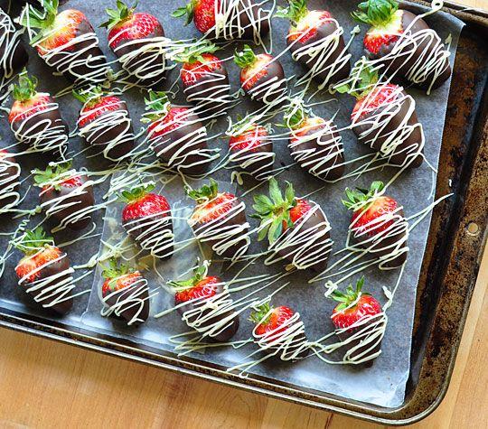 White and Dark Chocolate Strawberries | Recipe