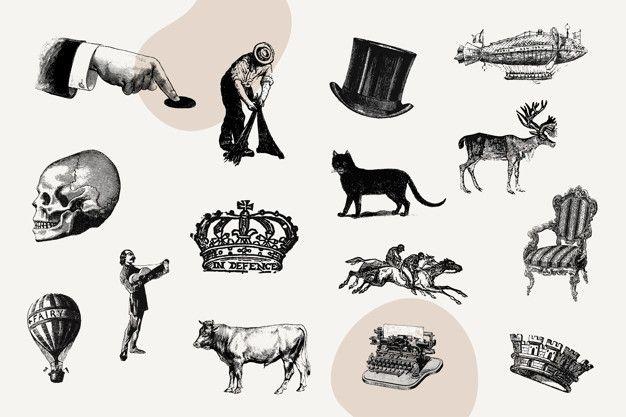 Download Vintage Icon Set For Free In 2020 Vintage Icons Free Icon Set Illustration