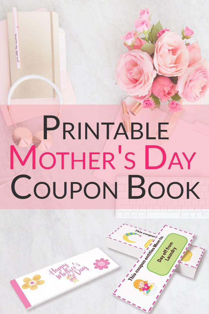 DIY Printable Mother's Day Coupon Book - This free printable gift idea is full of wonderful gifts for mom from the kids! via @keciahambrick