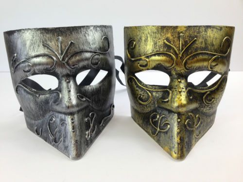 MENS-BAUTA-VENETIAN-MASK-SILVER-GOLD-METAL-STYLE-MASQUERADE-FANCY-DRESS-CARNIVAL