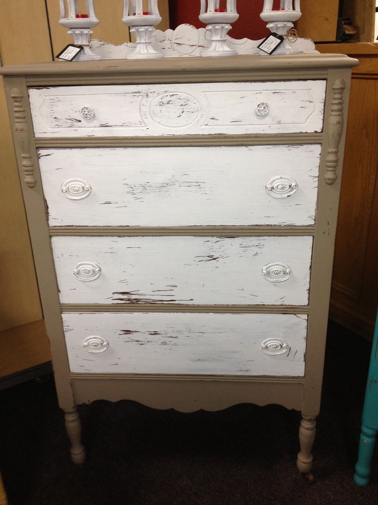 Beige Dresser Chalk Painted Furniture Pinterest