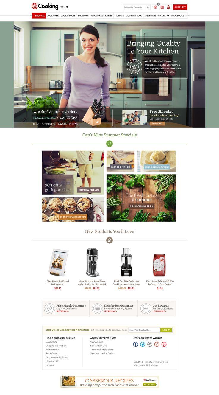 Cooking.com Responsive Redesign