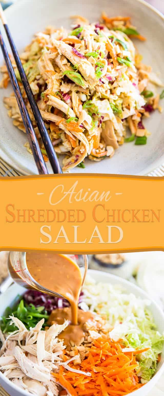 Asiatischer zerrissener Hühnersalat   – Delicious Dishes!
