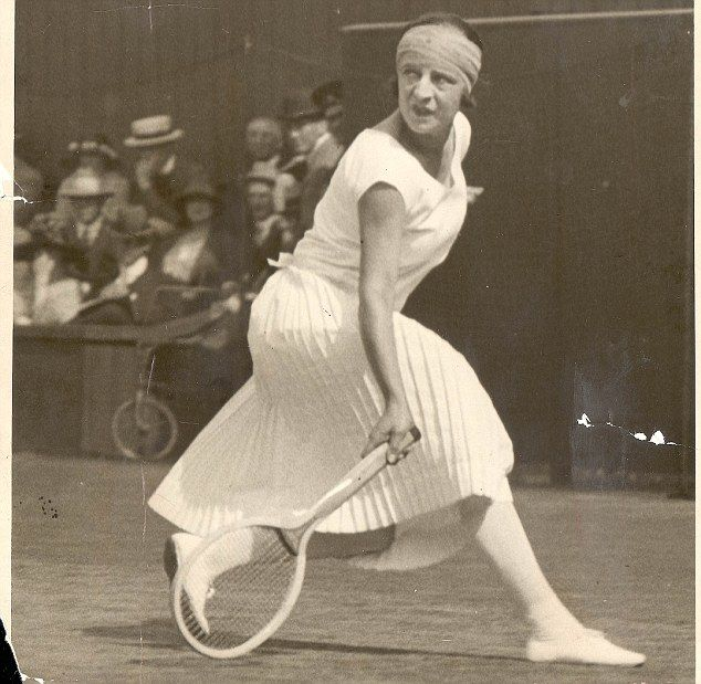 Vintage: tennis stars of yesteryear including French player Suzanne Lenglen, in action at Wimbledon in 1924