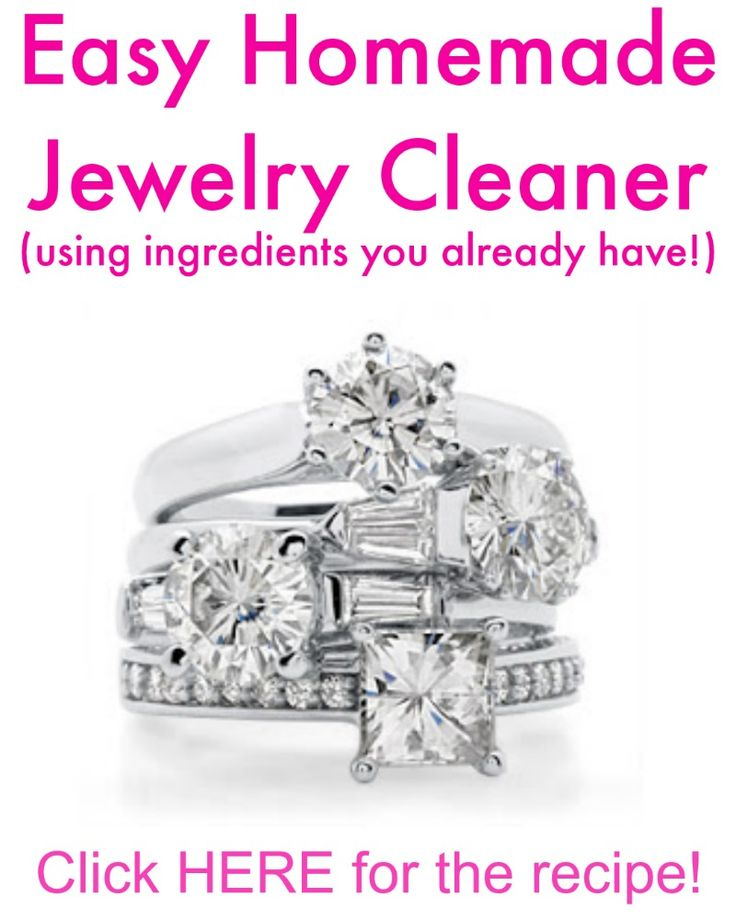 Easy Homemade Jewelry Cleaner - Make your jewelry sparkle using ingredients you already have! | www.classyclutter.net
