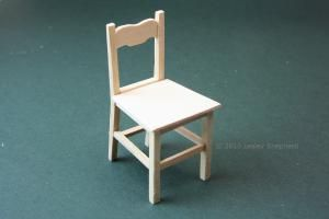 Easy to make dolls house wooden kitchen chair in 1:12 scale. - Photo copyright 2010 Lesley Shepherd, Licensed to About.com Inc.