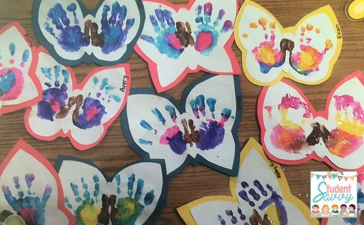 Butterfly Handprints! #kindergarten