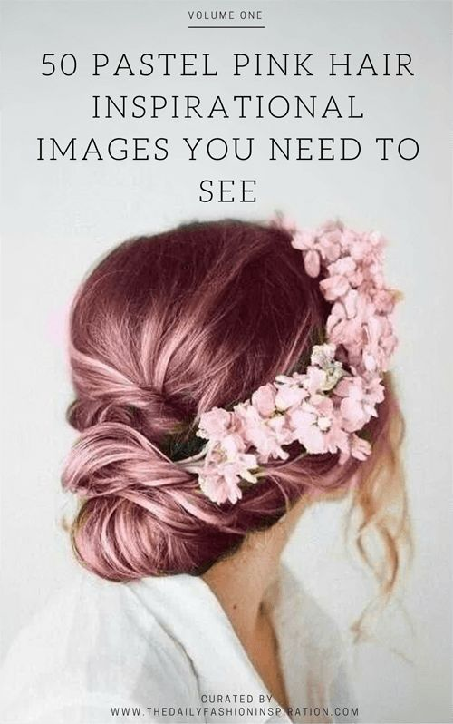 My selection is of the best 50 pastel #pink #hair images you need to see. They are a beautiful pink hair inspiration, showing pastel pink hair trends.