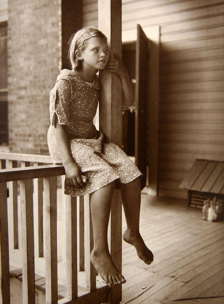 by Eudora Welty, Child on Porch, 1935.  Ogden Museum.