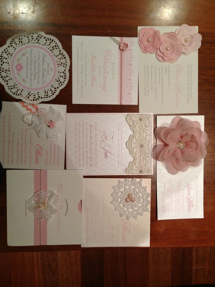Girls Vintage invitations by penn & paper