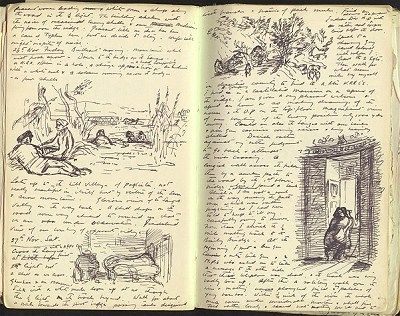 Edward Ardizzone  Diary of a War Artist 24-25 November 1943 - links to an online exhibit from the Imperial War Museums.