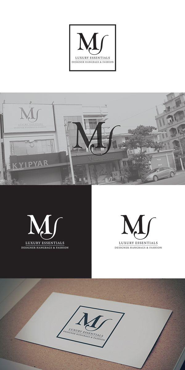 Ms Logo On Behance Modern Branding Design Architecture Logo Logos