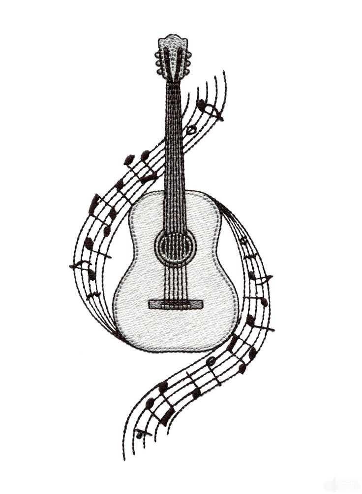 Guitar Embroidery Design                                                                                                                                                                                 More