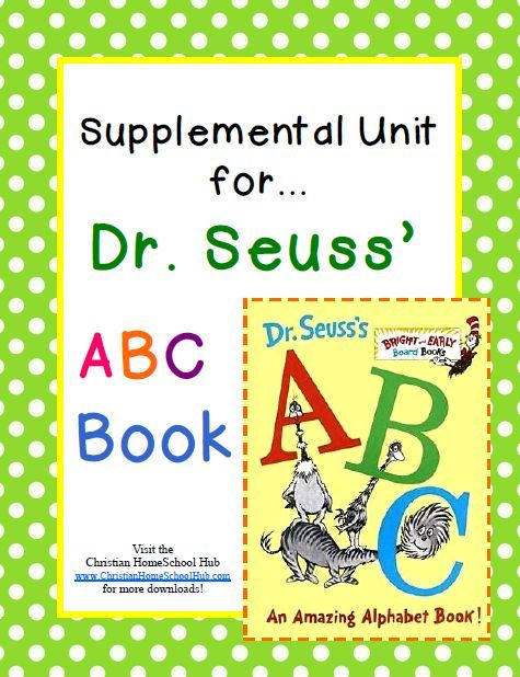 Christian Home School Hub - Dr Seuss Book Related Units Activities