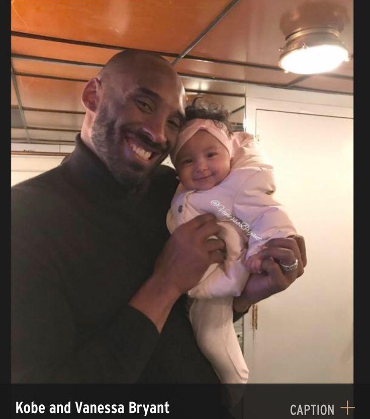Kobe Bryant with 3 year old daughter, Bianka.