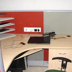 We manufacture Office Cubicles. The office cubicles are perfectly designed to provide enough leg and elbow space. Made from Prelaminated Particle Board & Pre Laminated MDF Board, the range of modular office bays is powder coated for lasting effect.To Know More :http://www.dboffice.in/modular-office-furniture.php#office-cubicles