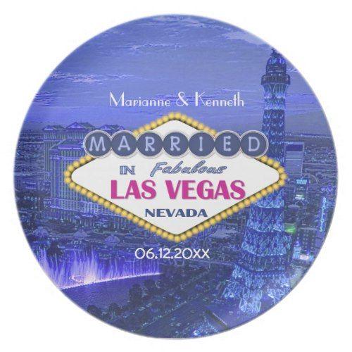 Las Vegas Wedding Dinner Plate