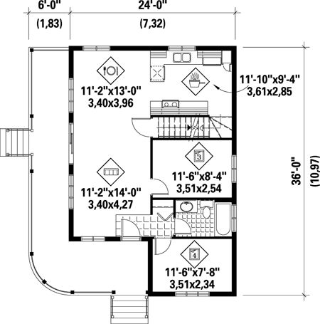 Cute Country Cottage - 80559PM   Cottage, Country, Canadian, Metric, Narrow Lot, 2nd Floor Master Suite, CAD Available, PDF   Architectural Designs