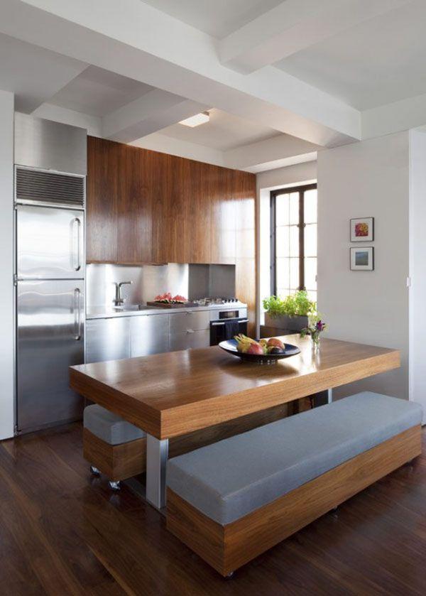 Love the blue/grayish seating.....transformer loft interior New York City apartment by Studio Garneau 2012