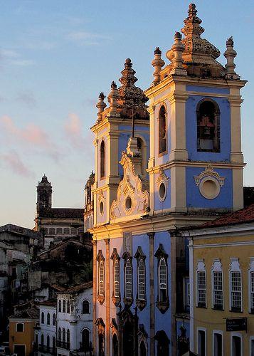 Igreja de Nossa Senhora do Rosario dos Petros, Pelourinho Square, Salvador, Bahia, Brazil