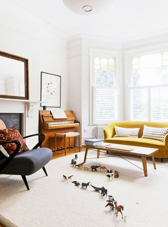 Modern furnishings, traditional spaces