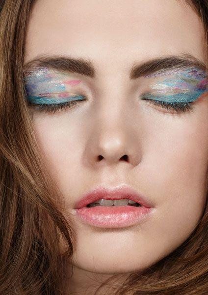 Watercolor eyes.