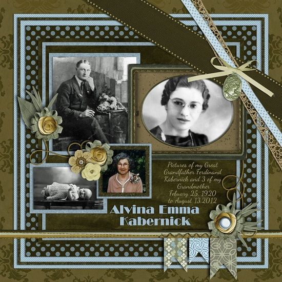 scrapbooking layouts vintage | ... Vintage Layouts / Love the charms and ribbon. Vintage scrapbook layout