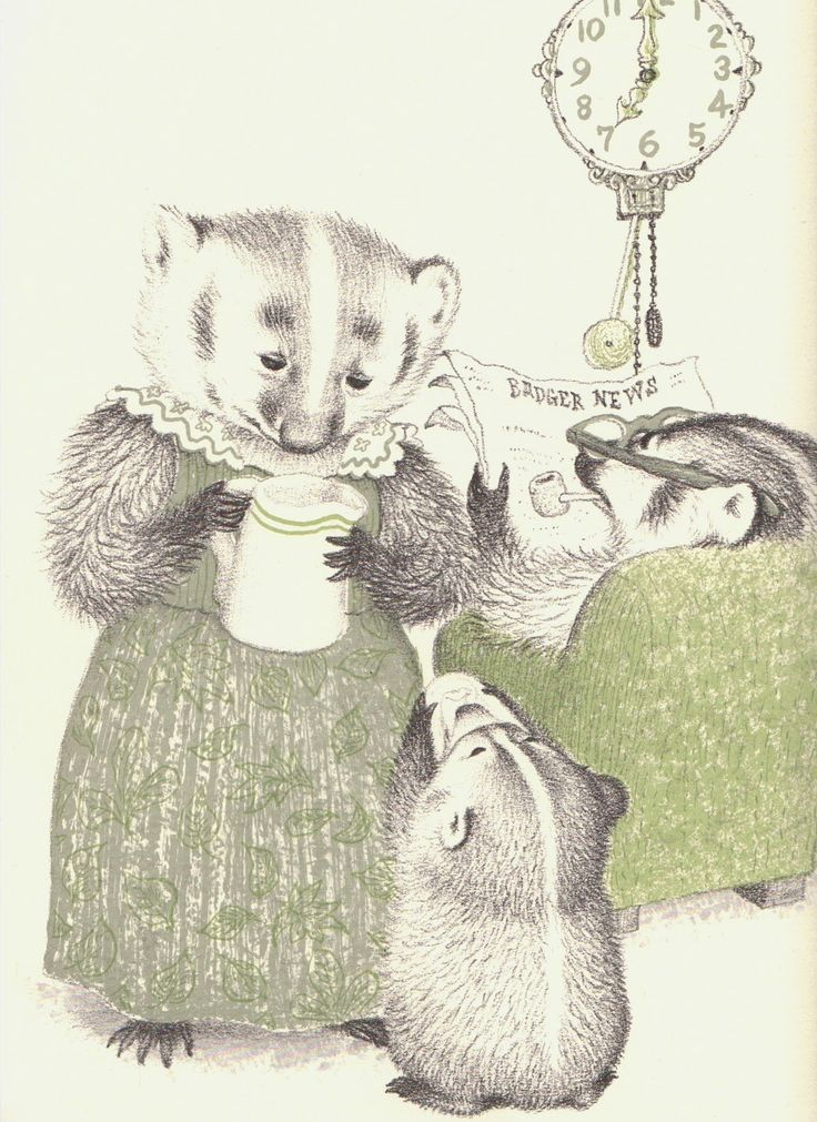 "Francis and her parents from the wonderful ""Bedtime for Francis"" by Russell Hoban, illustrated by Garth Williams"