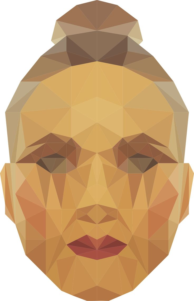 Triangle face illustration. De_sign