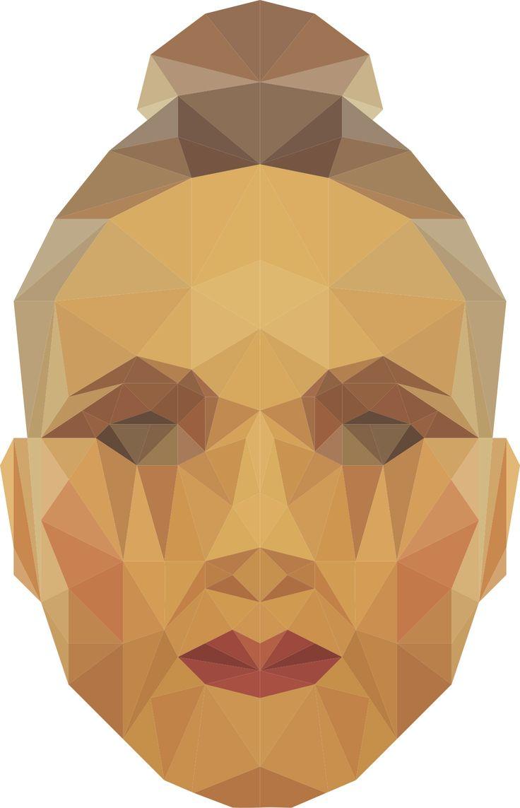 Triangle face illustration. De_sign
