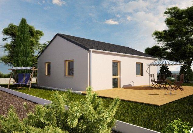 dřevostavba bungalovu 2+kk se sedlovou střechou, RD 902 č.1