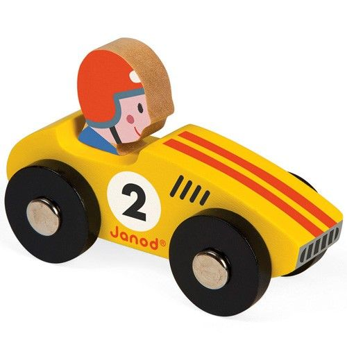 racewagen geel janod | ilovespeelgoed.nl