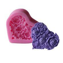 Бесплатная доставка 1 шт. цветок фондант кекса конфеты мыло силиконовые формы для пирога торт украшение C108(China (Mainland))