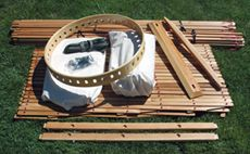 The Full Kit The full kit consists of all the parts necessary to build a yurt. Nothing extra is required, except assembling the wall sections and tying knots. This is simple work that can be done by just about anyone, but it is time consuming and hard on the hands as the knots need to …