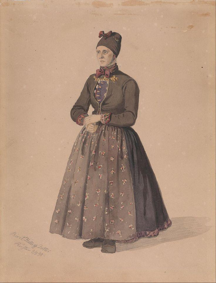 Adolph Tidemand - Biret Hellegsdotter, Rustan, Flesberg. 1848. jpg (780×1024)